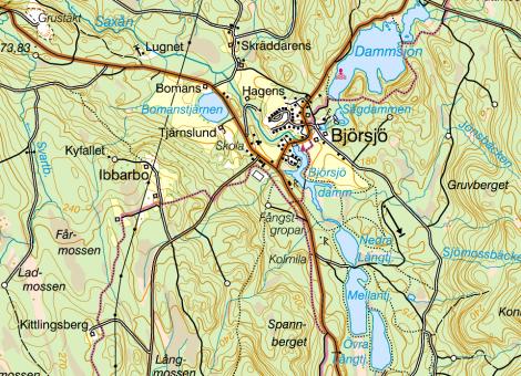 topografisk kart sverige Hela Sverige i topografiska kartor till din mobil eller surfplatta  topografisk kart sverige